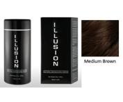 Illusion Hair Building Fibres, 25g / 25ml, Medium Brown
