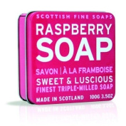 The Scottish Fine Soaps Company Soap Tin Collection - Raspberry (100)g