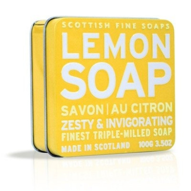 The Scottish Fine Soaps Company Soap Tin Collection - Lemon (100g)