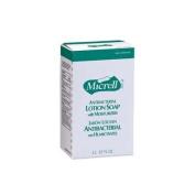 GOJO Industries GOJ225704EA Antibacterial Lotion Soap Refill- 2000 mL- Amber