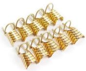 10pcs nail art silver foil reusable acrylic UV gel forms shape french false Gold