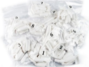 500pcs white false french for nail art tips uv acrylic 10 size fashion