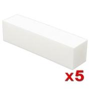 eForCity 5 X White Nail Tip Square Sanding Buffer