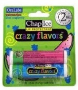 Oralabs ChapIce Crazy Flavours Lip Balm Watermelon and Blue Raspberry 2 Sticks