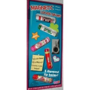 Magnetic Locker Balms - 5 Flavoured Lip Balms - Tootsie Roll, Junior Mints, Blow Pop