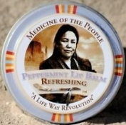 3 Tins of Navajo Medicine Of The People Peppermint Lip Balm 20ml each, Outstanding Product