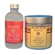 ELMA & SANA® Organics Moroccan Rose Water(4oz) and Khassoul Clay Set