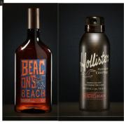 Mens Hollister Beacon's Beach Hair Body Wash & Deodorant Spray Set Lemon Sage Beachwood Scented