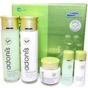 Korean Cosmetics_Adonis Green Tea Leaf 3pc Gift Set