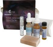 Blissoma Solutions natural skincare TSA Size Travel Skincare Set for Mature, Dry skin types