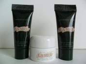La Mer Skincare Set 3 pcs(The Moisturising Cream .1 oz/ 3.5 ml, The Eye Concentrate .1 oz / 3ml) Deluxe Travel Size.