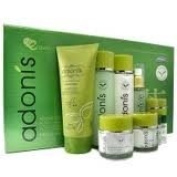Korean Cosmetics_Adonis Green Tea Leaf 8pc Gift Set