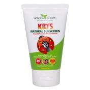 Kids Natural Sunscreen SPF 30 Goddess Garden 100ml Liquid