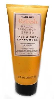 Trader Joe's Refresh Broad Spectrum SPF 30 Face & Body Sunscreen Very Water Resistant (80 Minutes)