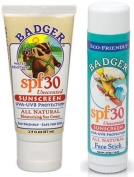 Badger SPF 34 Sunscreen and Face Stick SPF 35 Combo Pack