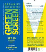 Green Screen Organic Sunscreen SPF 20 Original - 240ml/230g - Vegan