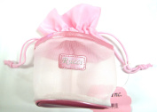 Rucci Cosmetic String Bag, Pink