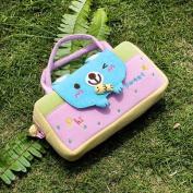 [Sweet Bear] Embroidered Applique Kids Mini Handbag / Cosmetic Bag / Travel Wallet
