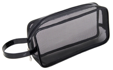 Mommy Makeup Black Mesh Makeup Bag