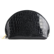 Yesurprise Set of 4 Black Snake Skin Cosmetic Makeup Beauty Case Purse Toiletry Bag Gift
