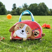 [Little Dog] Embroidered Applique Kids Mini Handbag / Cosmetic Bag / Travel Wallet