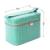 Yesurprise Portable Green Snake Skin Cosmetic Makeup Beauty Hand Case Toiletry Bag