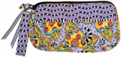 Caffco International Jennifer Jangles Fabric Cosmetic Bag, Purple Multi Flower