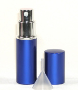 Blue 1/3 Oz (10 Ml) Travel or Purse Perfume Atomizer with Funnel