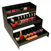 Cosmetic Organiser, 3 Shelf 30.5cm Wide. Easy to See with This Multi-use Stairstepped Rack. Great for Cosmetics or in Salons. Made in the USA ! by PPM.