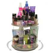 "Cosmetic Organiser ""New MINI ""that Spins..Only 25.4cm of Countertop. More than Doubles Your Storage, No More Clutter!! Just A Spin and Everything is at Your Fingertips. Includes Clear Tube Holder on top For Makeup Brushes, Etc. Proudly Made in the USA! .."