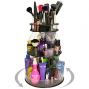 New...Makeup & Cosmetic Organiser with 4 Tube Holders for Brushes Etc.That Spins for Easy Access to all your Beauty Essentials, NO More Clutter! Give Yourself a Neat, Clean Countertop in Only 30.5cm of Space. ...Proudly Made in the USA! by PPM.