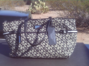 Tommy Hilfiger Satchel Handbag Black Jacquard