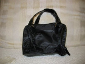 Avon Black Zip Top Bag Tote Cosmetic Bag Soft & Roomy