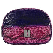 SEPHORA COLLECTION Pink Faux Snakeskin Bag Collection Domed Bag 7.5 x 14cm x 7.6cm