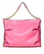 Nicki Minaj Pink Friday Launch Tote Fragrance Pink Bag W/gold Chain