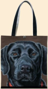 Black Labrador Tote by Fiddler's Elbow