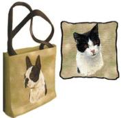 Black & White Tote Bag - 17 x 17 Tote Bag