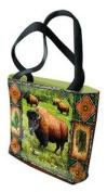Buffalo Lodge Tote Bag - 17 x 17 Tote Bag