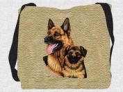 German Sheppard & Pup Tote Bag - 17 x 17 Tote Bag