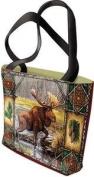 Moose Lodge Tote Bag - 17 x 17 Tote Bag