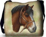 Clydesdale Horse Tote Bag - 17 x 17 Tote Bag