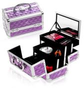 Shany Cosmetics Purple Diamond Makeup Train Case
