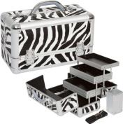 Seya 3-tier Professional Makeup Case w/ Removable Brush Holder - Zebra