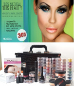 MicaBeauty Cosmetics Professional Artist Mineral Makeup Dark Skin Set Black Case + Aviva Snow Man Nail Kit