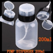 1X 200ml Pump Dispenser Bottle Makeup Tool for Travelling or Home Use J0794-1