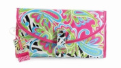 Mud Pie Wild Paisley Blue, Green, Pink & Black Hanging Travel Jewellery Cosmetic Case and Toiletry Bag