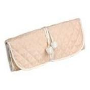 Pink Silk Jewellery Roll or Cosmetic Roll