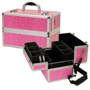 TZ Case Pink Beauty Collection TC07 Beauty Case - Pink w/ White Dots TC-07-PWD
