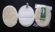 3 Touch Me 12.7cm x17.8cm Natural Sisal / Terry Bath Pad Scrubber 3 pack