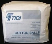 969153 PT# 969153- Cotton Balls N/S Medium 2000/Bx by, Tidi Products LLC
